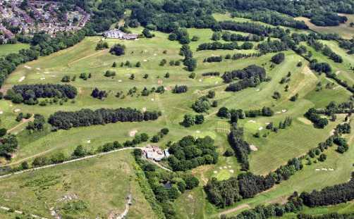 Aerial view of Bromborough Golf Club