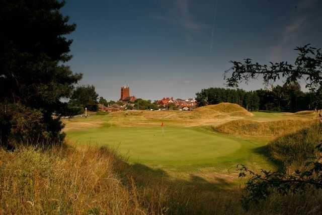 The 16th green at Hesketh Golf Club