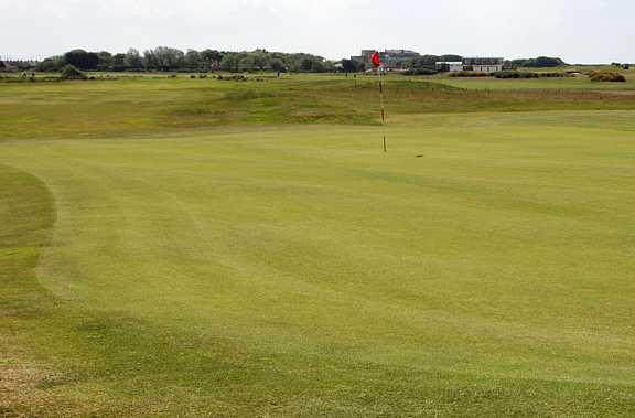 A view of green #16 at Leasowe Golf Club