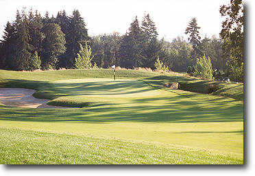 Ghost Creek @ Pumpkin Ridge #17: A 220 yard drive from the blue tees will clear the creek that crosses the fairway. 275 yards will leave you with an eagle putt! Don't fade it too much, the lake on the right side of the green is small and will make you fig
