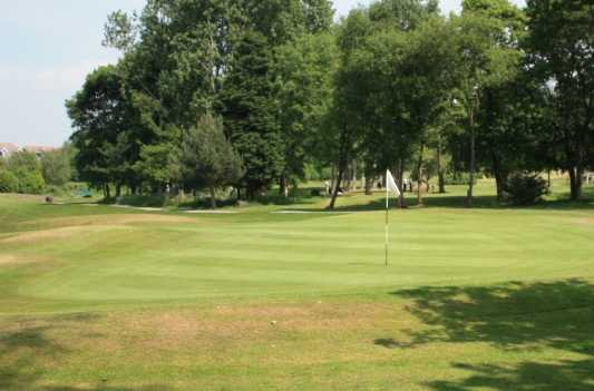 A view of hole #9 at West Derby Golf Club