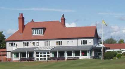 A view of the clubhouse at Wirral Golf Club