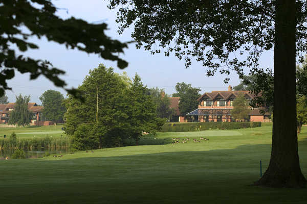 A view from a fairway at Barnham Broom Hotel