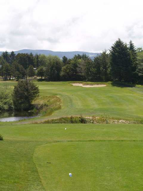 View of the 5th tee and fairway at Crestview Golf Club