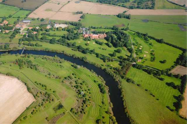 Aerial view from Aldwark Manor Golf & Spa Hotel