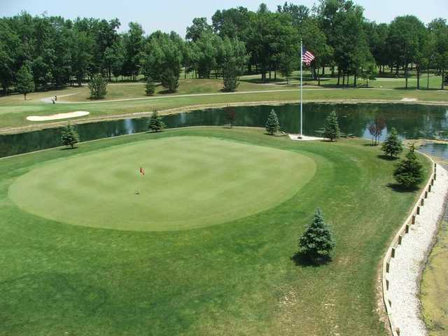 View of the 5th green at Sycamore Springs Golf Course