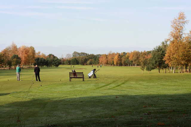 A fall view of a fairway at Easingwold Golf Club