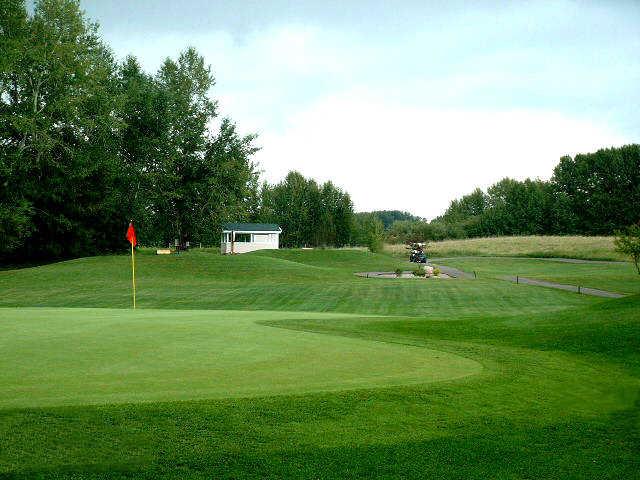 View of the 15th hole at Ponoka Golf Club