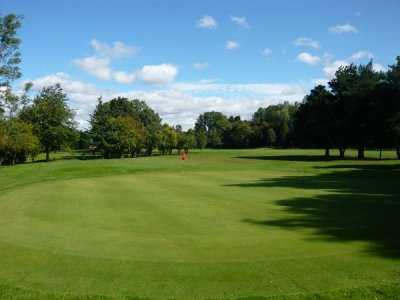 A view of the 1st green at Heworth Golf Club