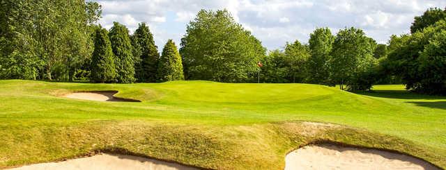 A view of the 5th green at Knaresborough Golf Club