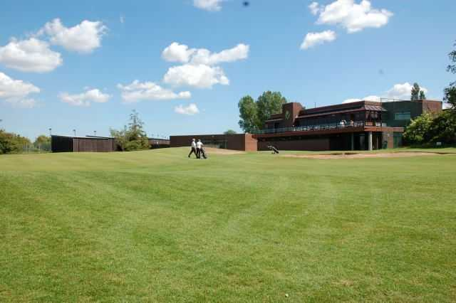 A view of the clubhouse at Middlesbrough Municipal