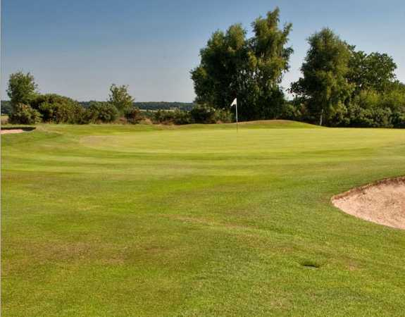 A view of the 14th green at Pannal Golf Club
