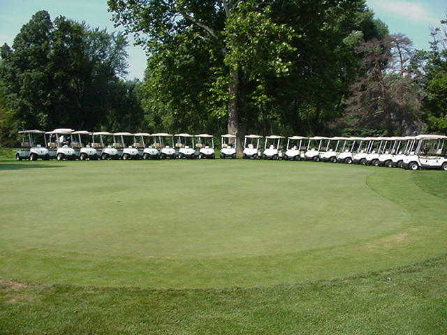 View of the puttin green at South Shore Golf Club