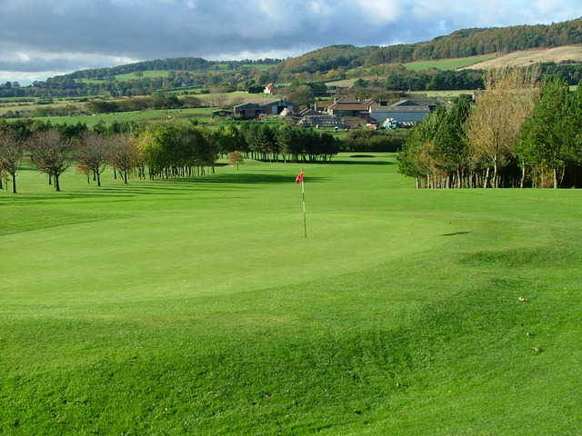 A view of hole #11 at Saltburn-by-the-Sea Golf Club