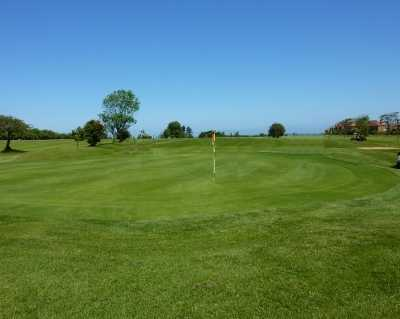 A view of the 27th hole at Scarborough North Cliff Golf Club