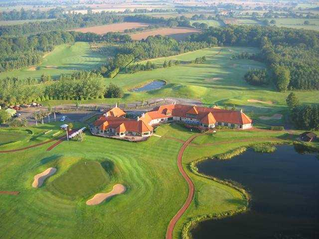 Aerial view from Oaks Golf Club