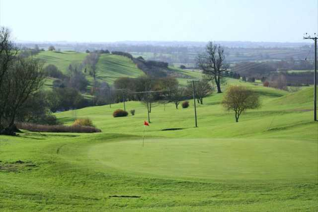 A view of a green at Cold Ashby Golf Club