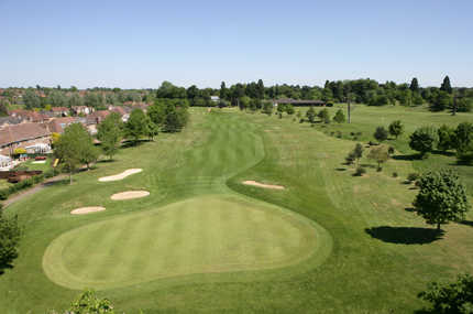A view of the 1st green at Collingtree Park Golf Club
