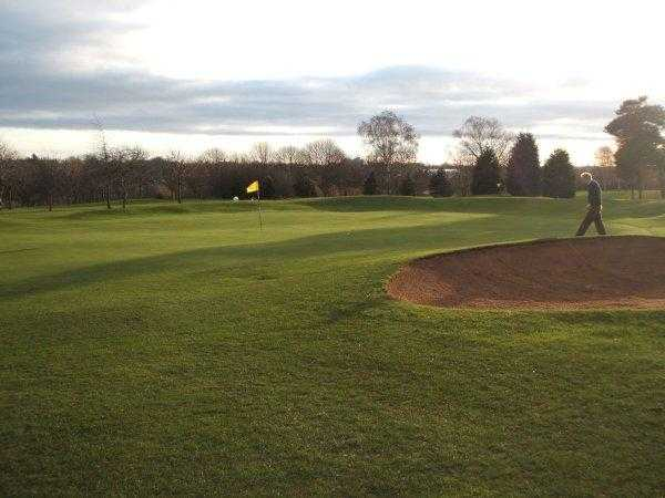 A view of the 6th hole at Kingsthorpe Golf Club