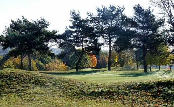 A view of green #13 at Kingsthorpe Golf Club