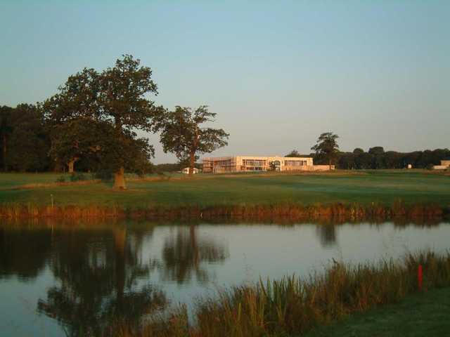 A view of the clubhouse at Whittlebury Park Golf & Country Club
