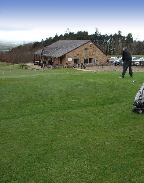 A view of the clubhouse at Allendale Golf Club