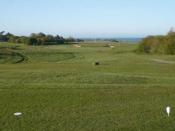 A view from tee #17 at Alnmouth Golf Club