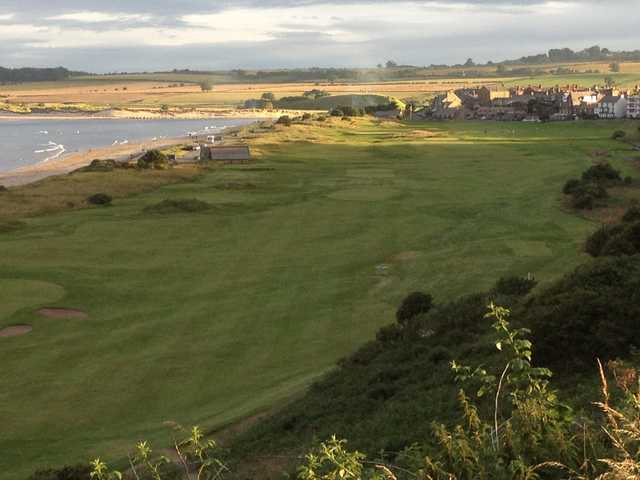 A view from Alnmouth Village Golf Club