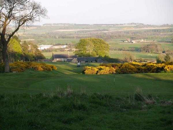 A view of green #15 at Alnwick Castle Golf Club