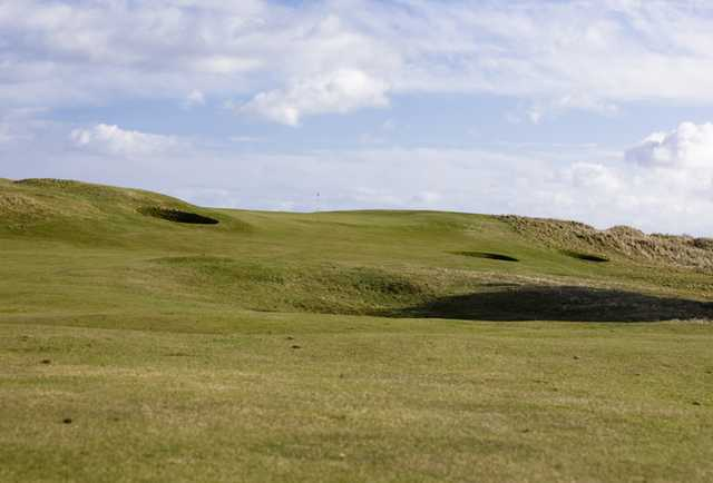 A view from the 1st fairway at Goswick Golf Club.