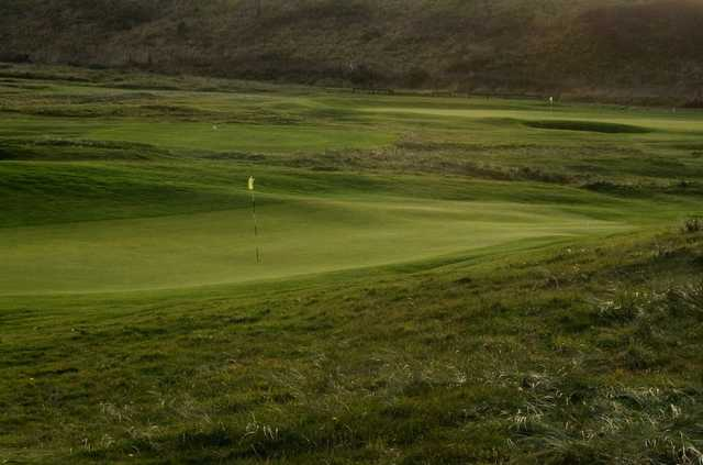 A view of a green at Newbiggin Golf Club