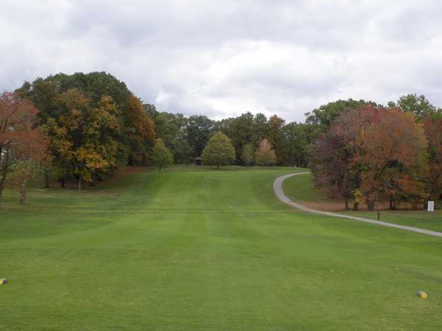View of a fairway at Ridgewood Golf Course