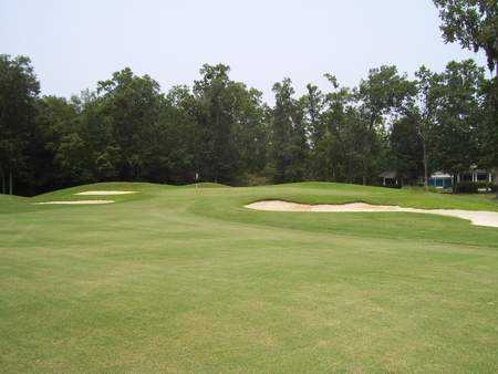 View of the 18th green at Southbridge Golf Club