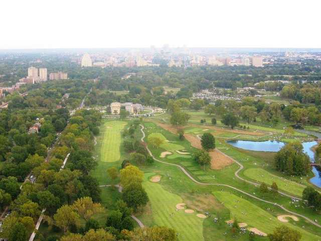 Aerial view from Forest Park Golf Course