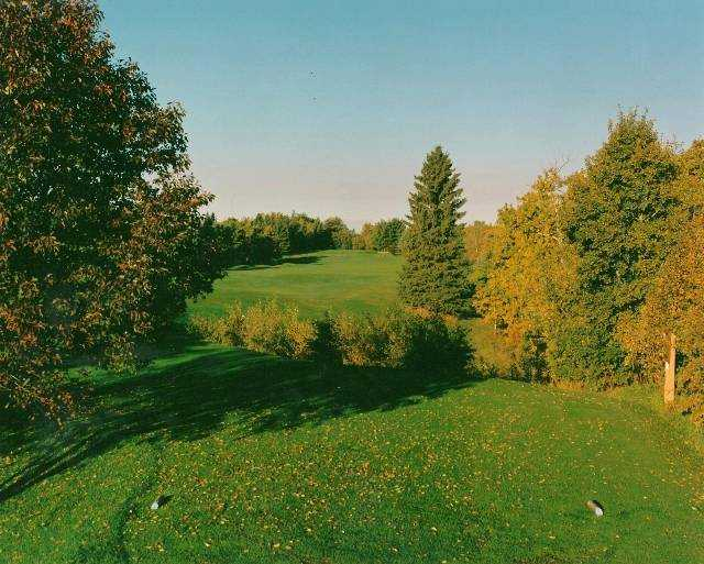 A view from tee #18 at Lacombe Golf and Country Club