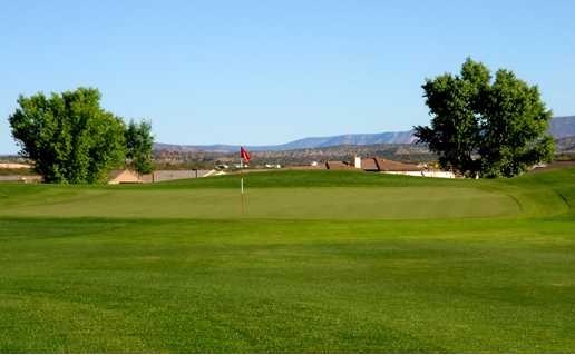 A view from a fairway at Agave Highlands