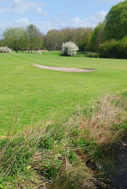 A spring view of a fairway at Edwalton Golf Centre