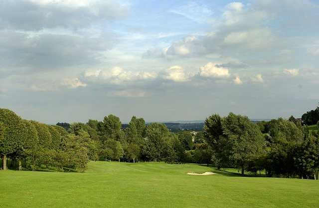 A view from the 1st fairway at Mapperley Golf Club