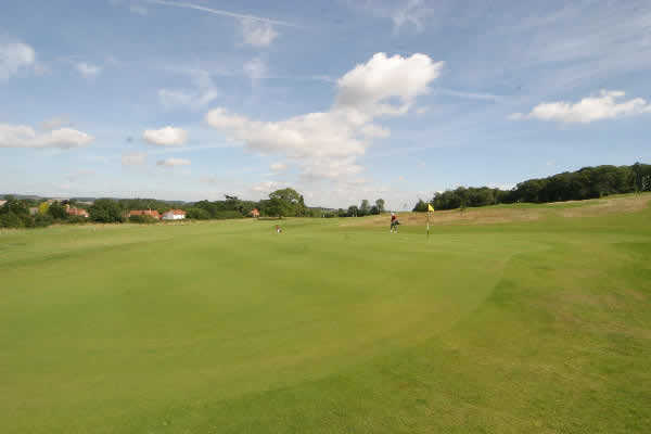 A view of the 12th green at Westwood Course from Norwood Park Golf Centre