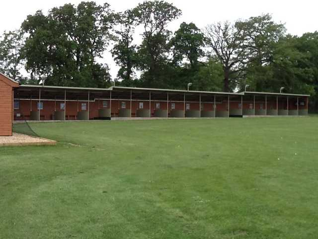 A view of the driving range tees at Norwood Park Golf Centre
