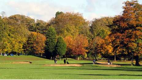 A view from a fairway at Nottingham City Golf Club