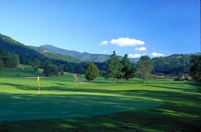 View of Mt. Pisgah from #14 Green at Springdale Country Club