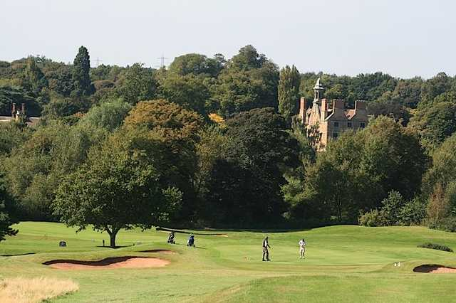 A view of the 15th green at Rufford Park Golf & Country Club