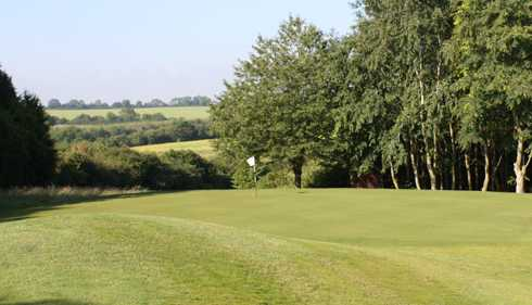 A view of the 2nd green at Cotswolds Club Chipping Norton