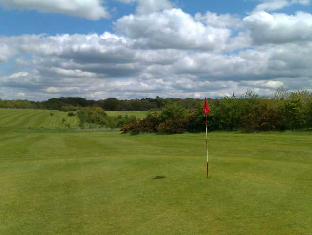 A view of a green at Greys Green Golf Course