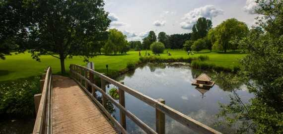 A view over the pond from North Oxford Golf Club