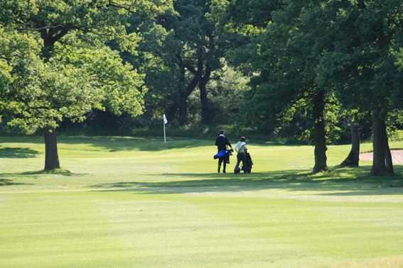 A view of hole #12 at Studley Wood Golf Club