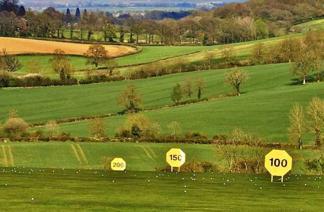 A view of the driving range at Tadmarton Heath Golf Club