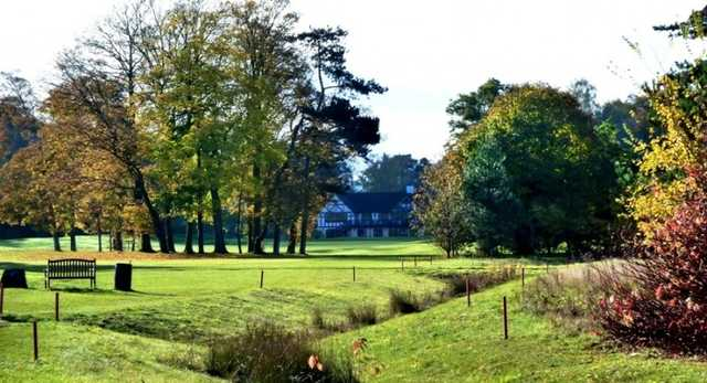 An autumn coloured view of the 18th fairway at Springs Hotel & Golf Club