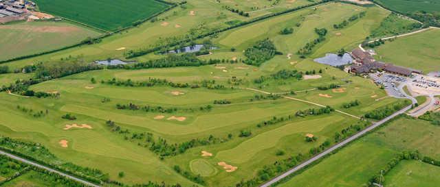 Aerial view of Witney Lakes Resort